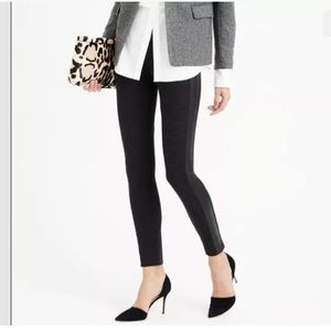 J. Crew Pixie Ankle Pants Leather Tuxedo Stripped